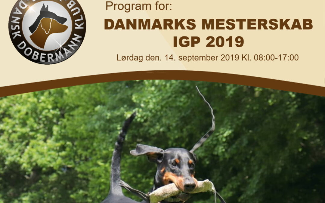 Program for IGP Mester2019