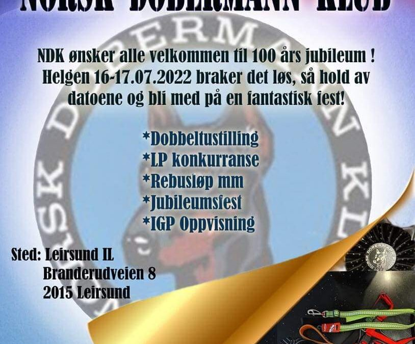 Norsk Dobermann Klub inviterer til 100 års jubilæum